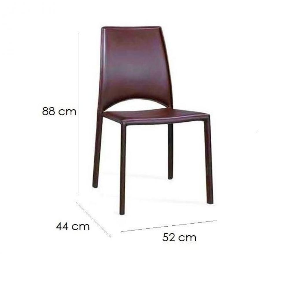 chaises tables et chaises chaise de salon design jeep marron inside75. Black Bedroom Furniture Sets. Home Design Ideas