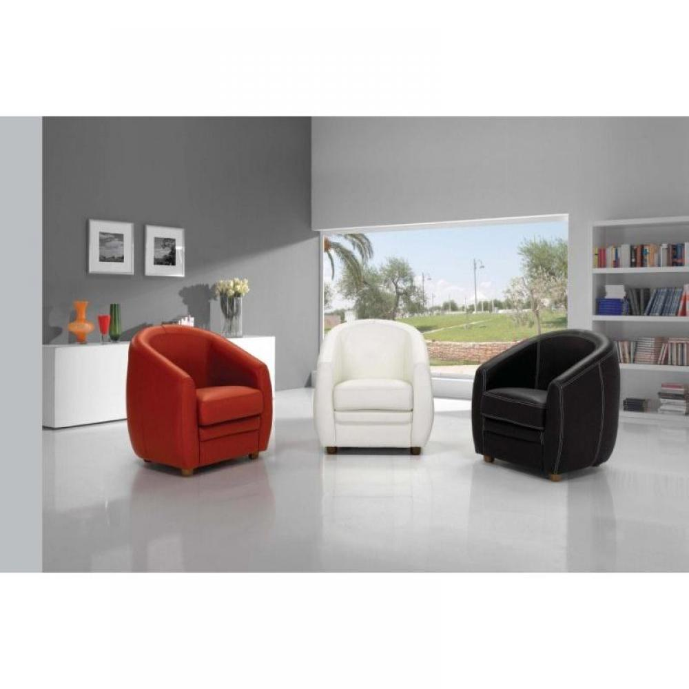 mobilier table fauteuil club cuir blanc. Black Bedroom Furniture Sets. Home Design Ideas