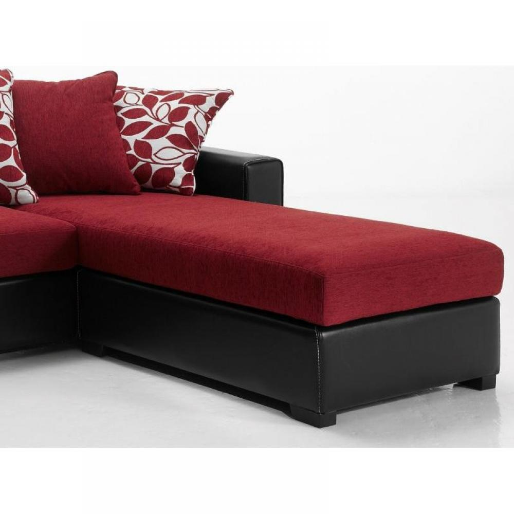 canap s d 39 angle canap s et convertibles canap d 39 angle r versible kennett tweed rouge et cuir. Black Bedroom Furniture Sets. Home Design Ideas