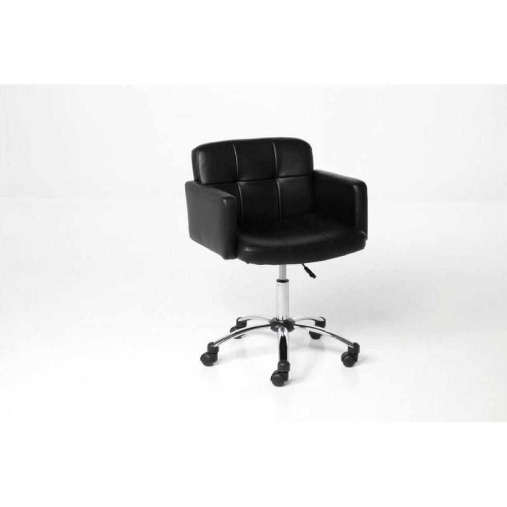 chaises meubles et rangements king fauteuil bureau design noir roulettes inside75. Black Bedroom Furniture Sets. Home Design Ideas