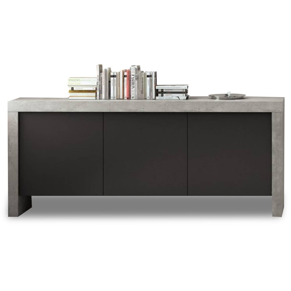 buffets meubles et rangements temahome kobe buffet design b ton 3 portes inside75. Black Bedroom Furniture Sets. Home Design Ideas