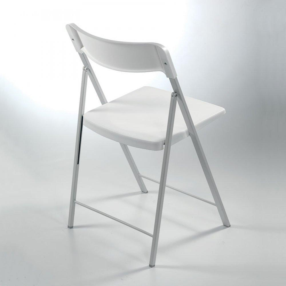 Chaise blanche plastique maison design for Chaise design plastique