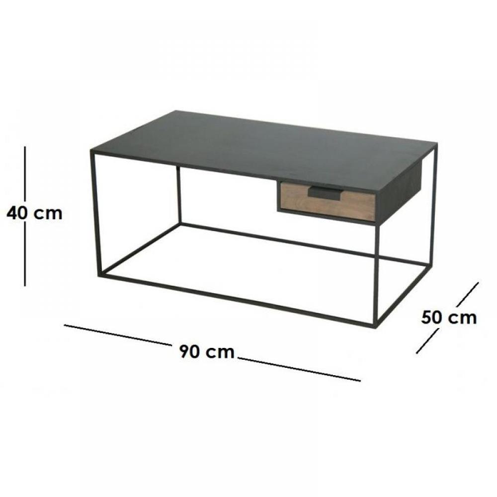 Tables basses tables et chaises kwadrat table basse en - Table chene acier ...