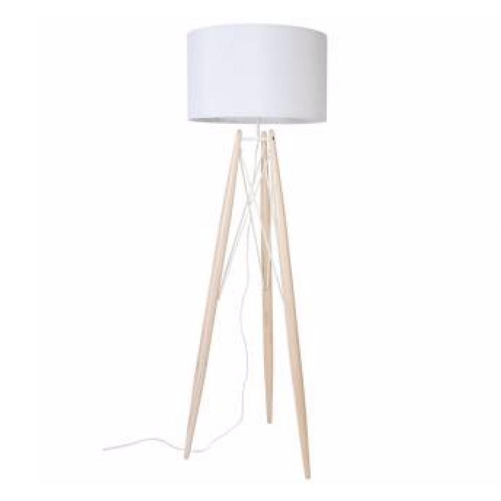 Lampadaires luminaires lampadaire grid blanc pi tement pin massif style sca - Lampadaire style scandinave ...