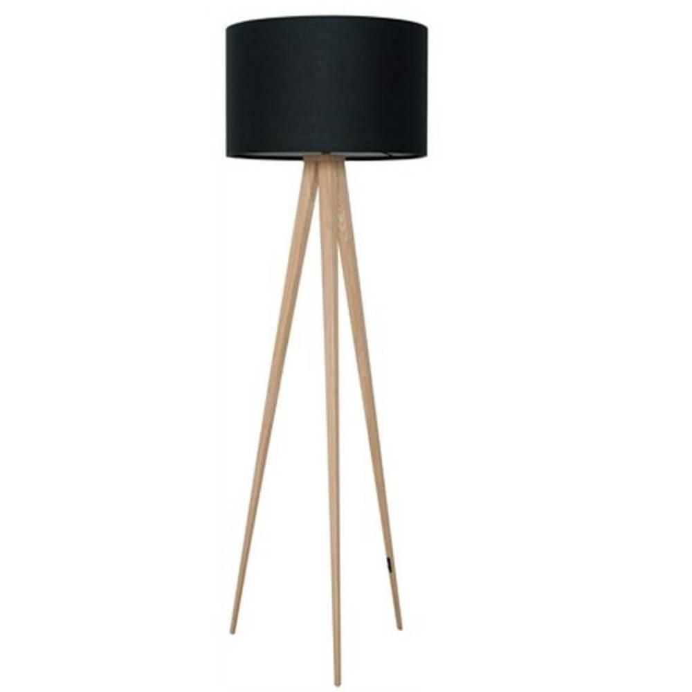 lampadaire zuiver tripod wood noir place du mariage. Black Bedroom Furniture Sets. Home Design Ideas