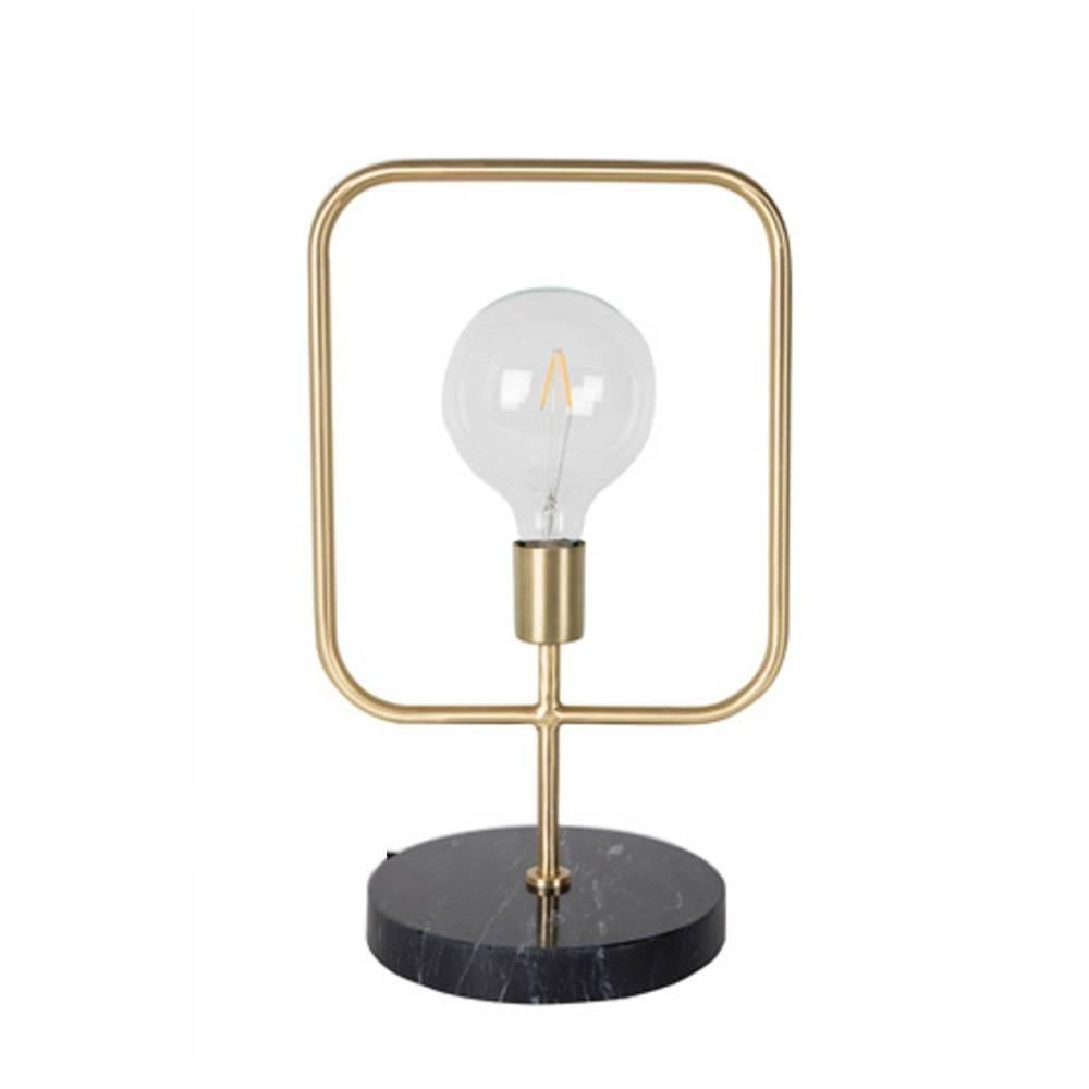 dutchbone lampe poser cubo en laiton pied marbre style. Black Bedroom Furniture Sets. Home Design Ideas