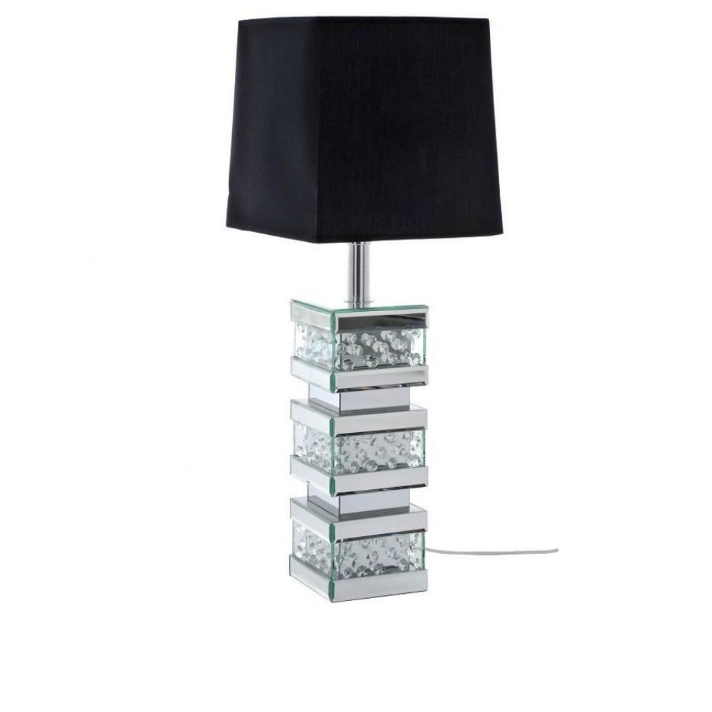 Lampe DIAMANT abat jour noir Place du Mariage