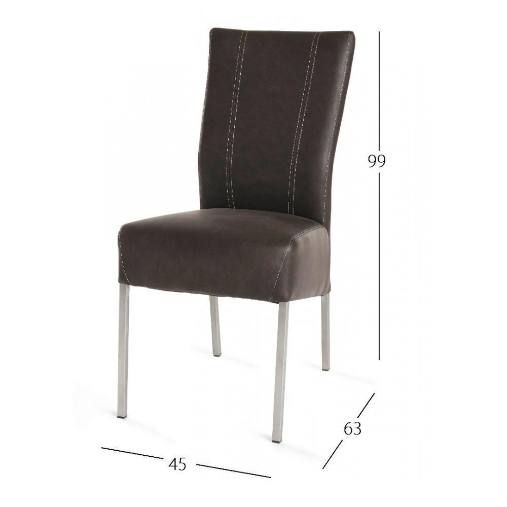 Chaises tables et chaises chaise design laura en tissu - Chaises en cuir design ...