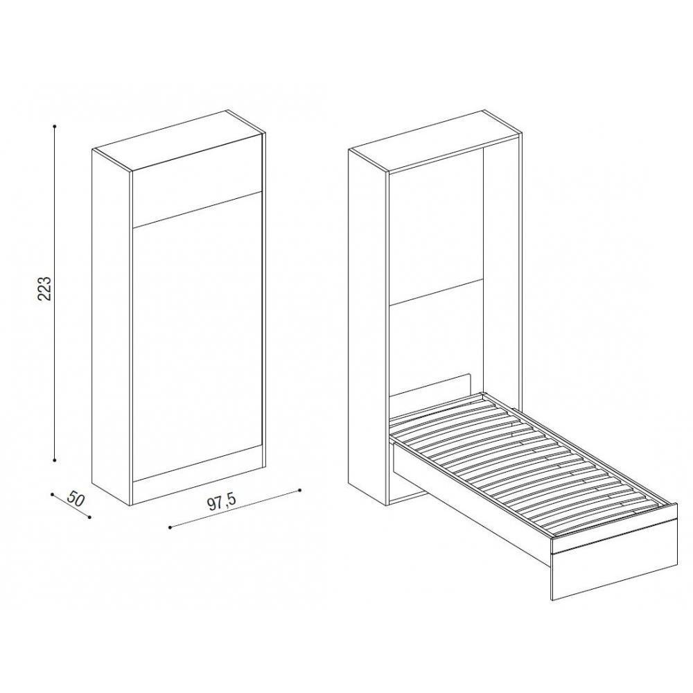Armoire lit 1 place armoires lits escamotables armoire lit escamotable ou - Lit electrique 1 place ...