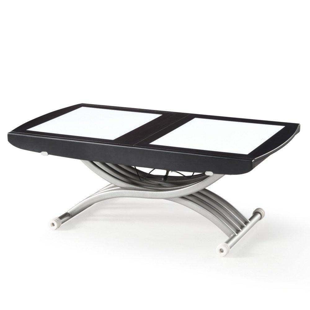 Tables relevables tables et chaises table relevable lift glass weng verre - Table relevable en verre ...