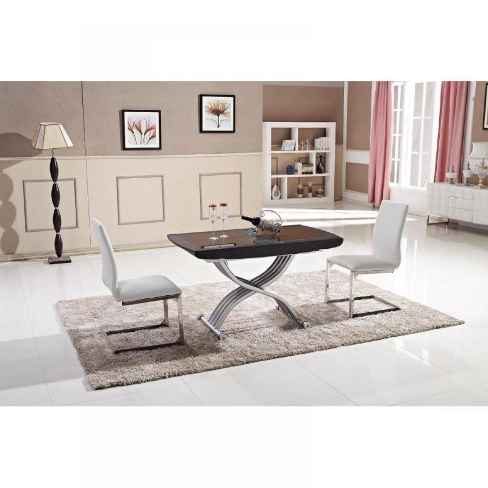 Tables basses tables et chaises table relevable lift - Table relevable en verre ...