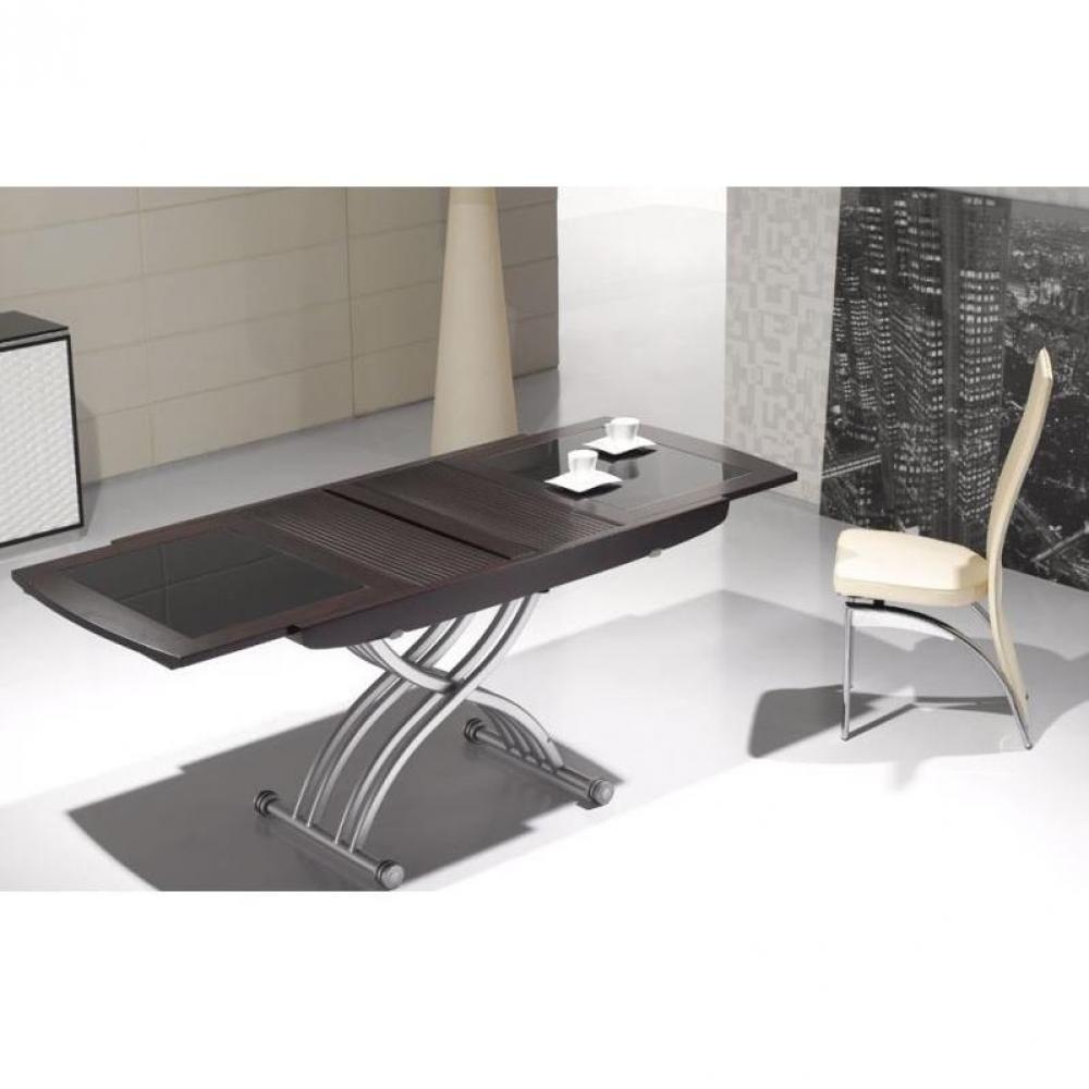 Tables relevables meubles et rangements table relevable - Table wenge verre ...