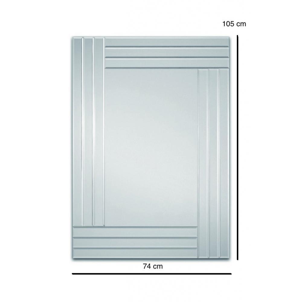Miroirs meubles et rangements lignes miroir mural design for Meuble mural en verre