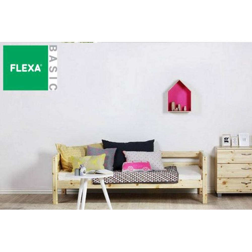 lits enfant chambre literie lit banquette flexa en pin vernis naturel couchage 90 x 200. Black Bedroom Furniture Sets. Home Design Ideas