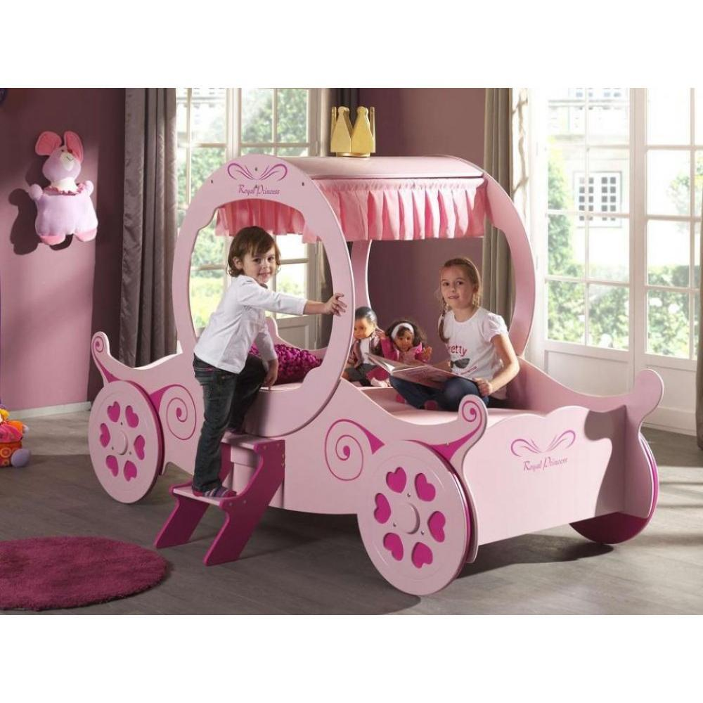 Lits chambre literie lit carrosse funbeds rose design princess kate - Lit princesse carrosse ...