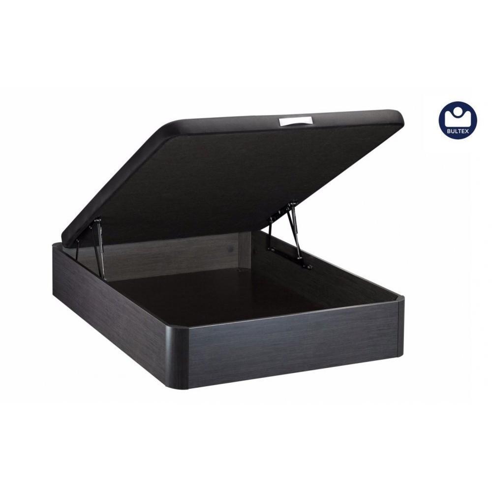 lits chambre literie bultex sommier coffre galaxie noir c ruse 160 200cm inside75. Black Bedroom Furniture Sets. Home Design Ideas