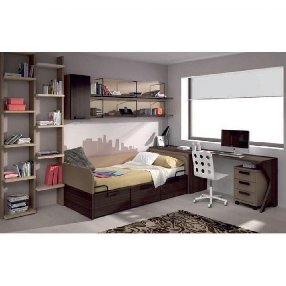 lits chambre literie lit compact carillon avec 3 tiroirs couchage 90 x 190 inside75. Black Bedroom Furniture Sets. Home Design Ideas