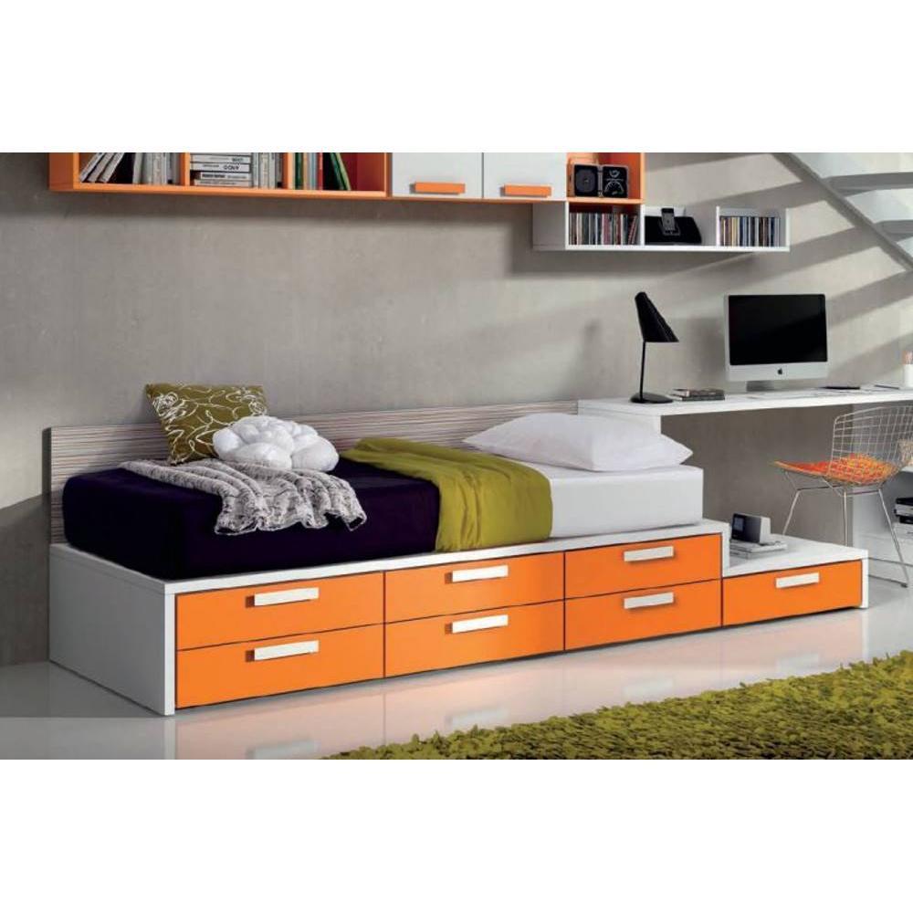 lits chambre literie lit compact tatami avec 7 tiroirs couchage 90 x 190. Black Bedroom Furniture Sets. Home Design Ideas