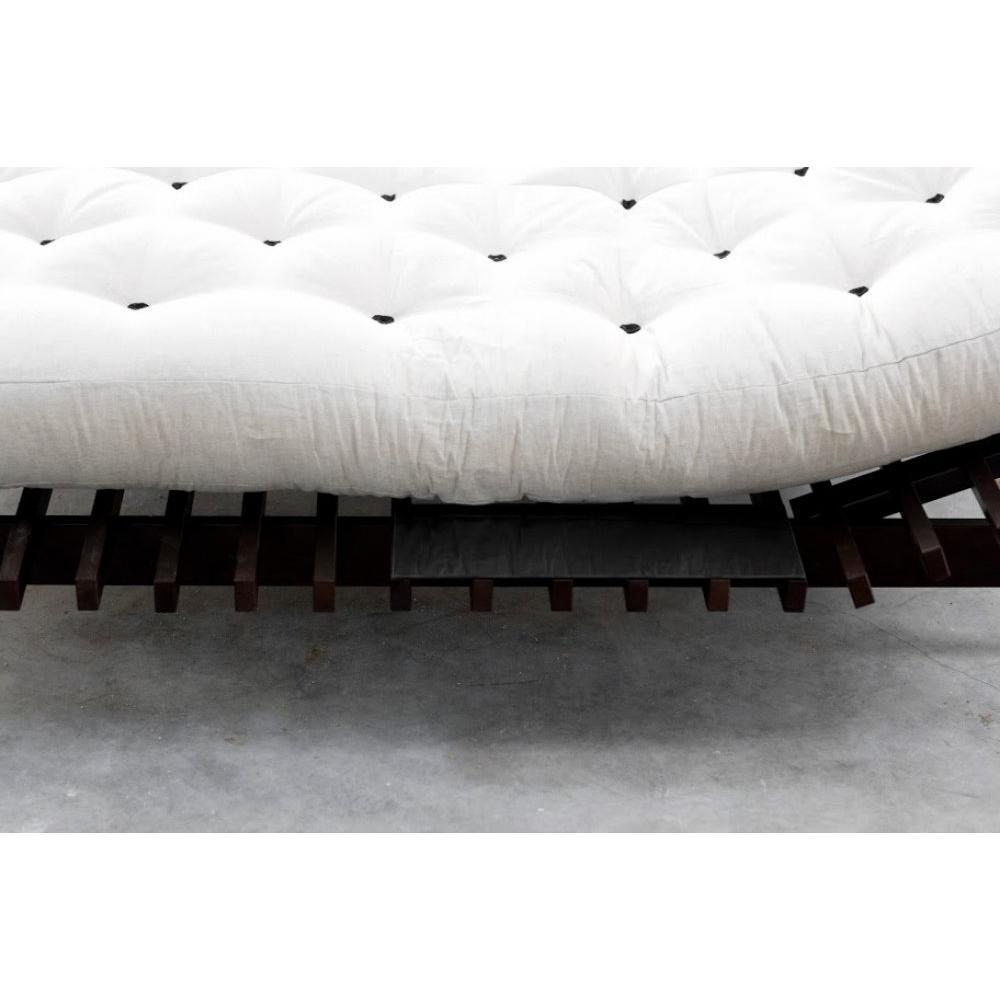 lits chambre literie cadre de lit japonais blues weng 160 200cm avec sommier inside75. Black Bedroom Furniture Sets. Home Design Ideas