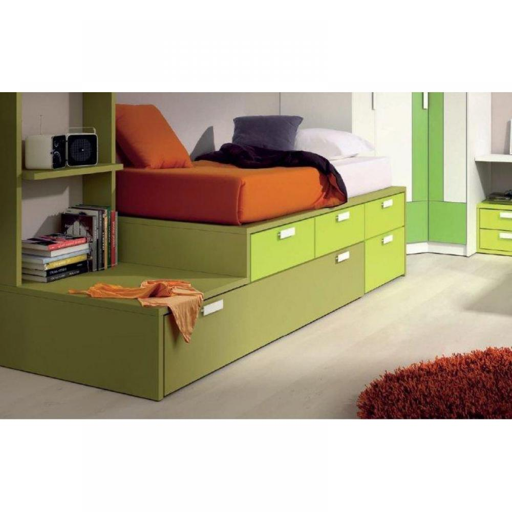 lits enfant chambre literie lit gigogne compact iberis. Black Bedroom Furniture Sets. Home Design Ideas