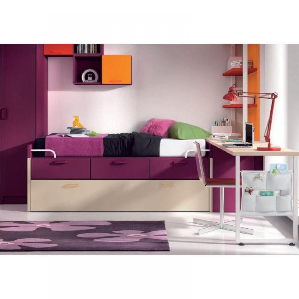 lits chambre literie lit gigogne lena avec 3 tiroirs. Black Bedroom Furniture Sets. Home Design Ideas