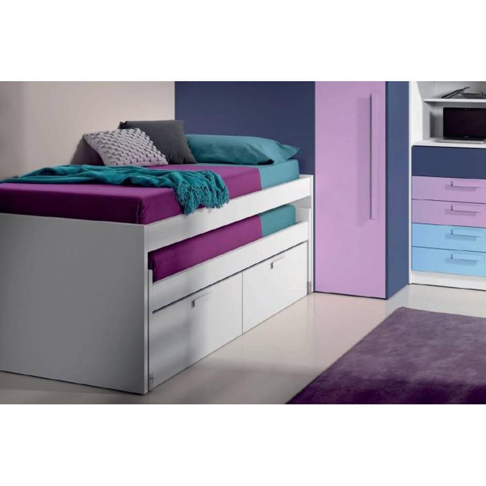 lits enfant chambre literie lit gigogne loopy avec 2 tiroirs couchage 90 x 190 inside75. Black Bedroom Furniture Sets. Home Design Ideas
