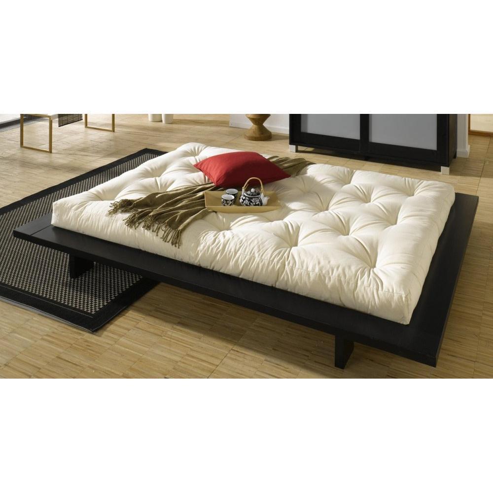 Lits, chambre & literie, Cadre de lit japonais JAPAN noir 160*200cm ...