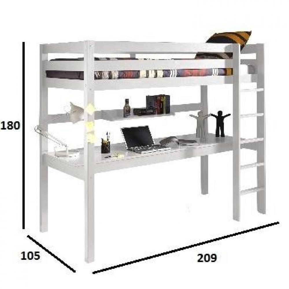 canap s convertibles canap s et convertibles lit bureau mezzanine pino en pin vernis blanc. Black Bedroom Furniture Sets. Home Design Ideas