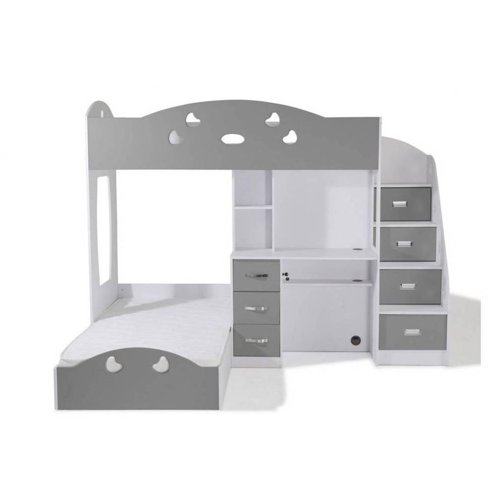 Lits mezzanine chambre literie lit mezzanine combi for Lit escamotable bureau integre