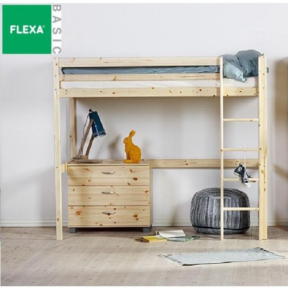 lits mezzanine chambre literie lit mezzanine flexa en. Black Bedroom Furniture Sets. Home Design Ideas