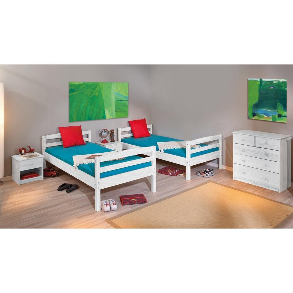 chaises meubles et rangements lit superpos rick en pin massif couchage 90 x 190 cm inside75. Black Bedroom Furniture Sets. Home Design Ideas
