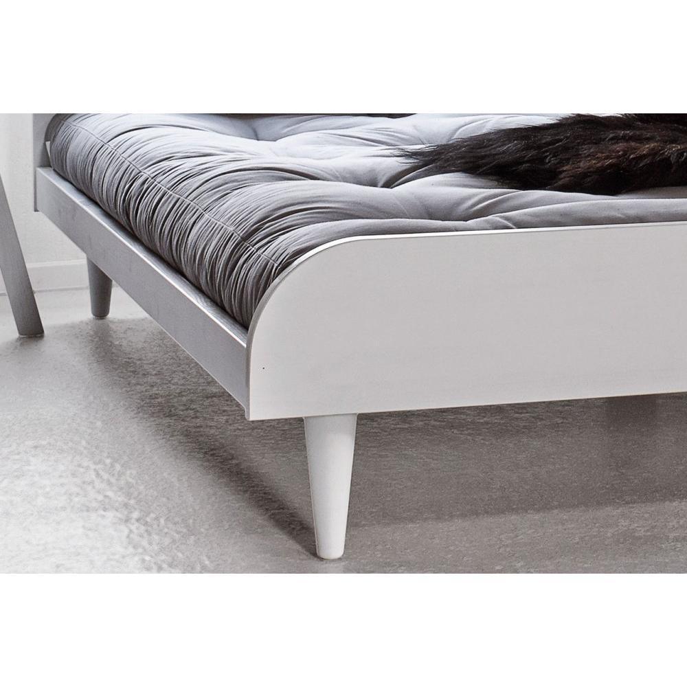 lits chambre literie lit twist blanc 160 200cm avec sommier inside75. Black Bedroom Furniture Sets. Home Design Ideas