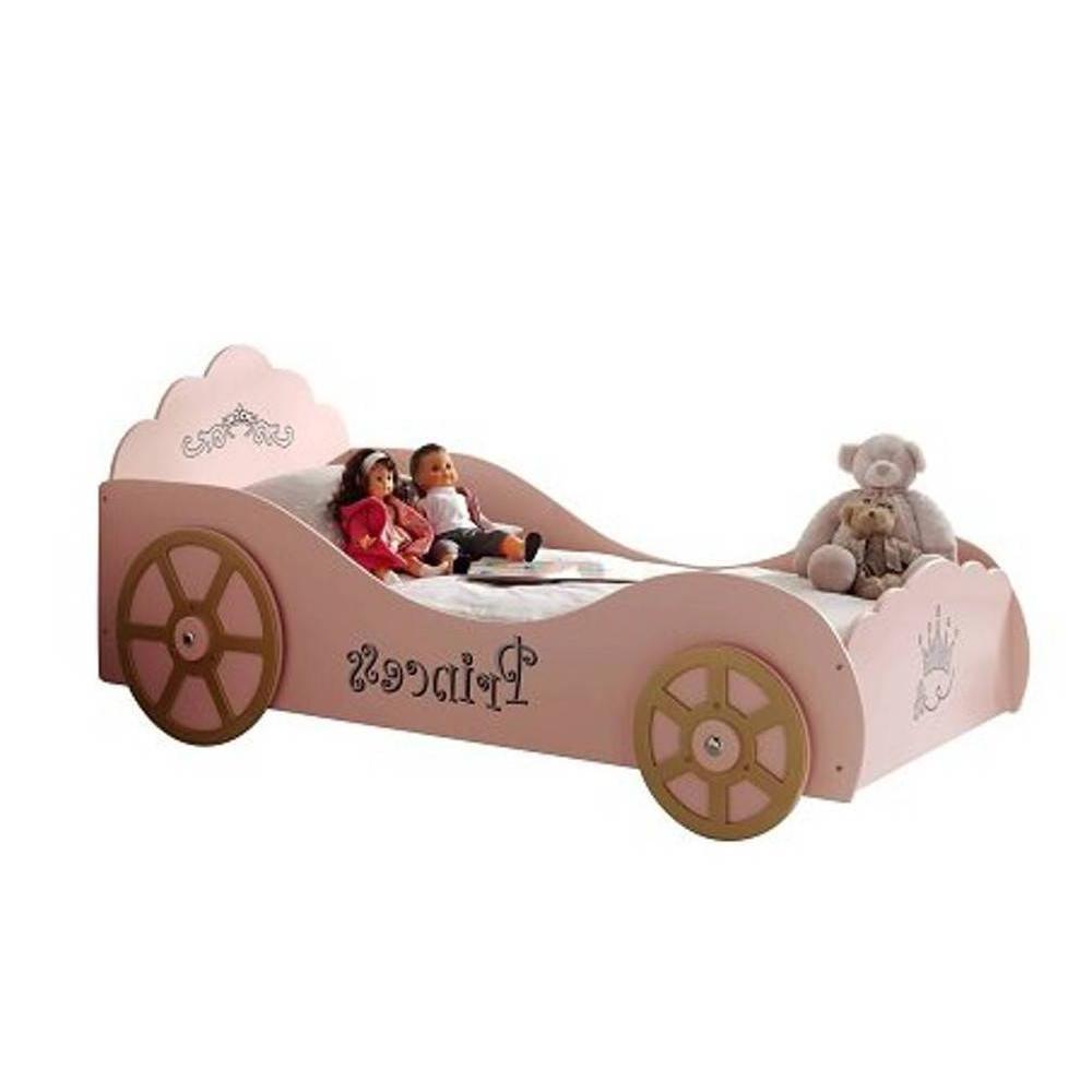 lits chambre literie lit voiture berline princess design rose inside75. Black Bedroom Furniture Sets. Home Design Ideas
