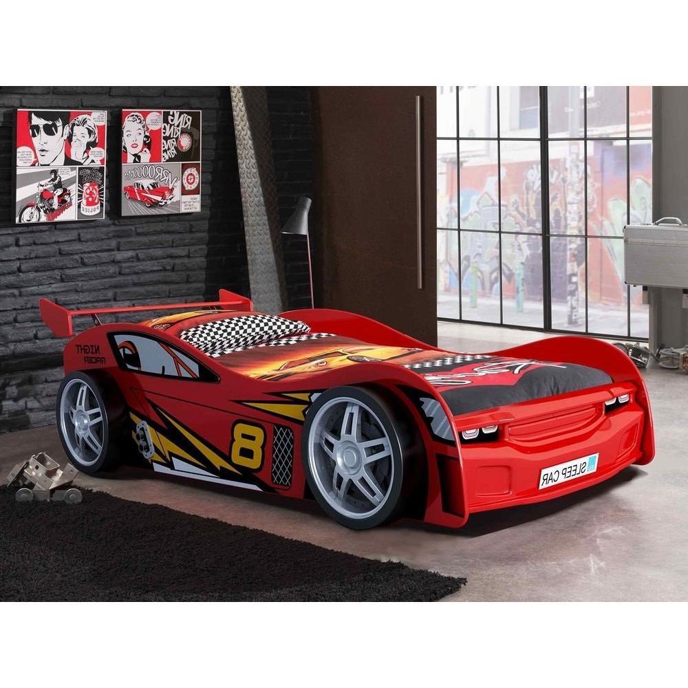 lits chambre literie lit voiture funbeds night racer design rouge inside75. Black Bedroom Furniture Sets. Home Design Ideas