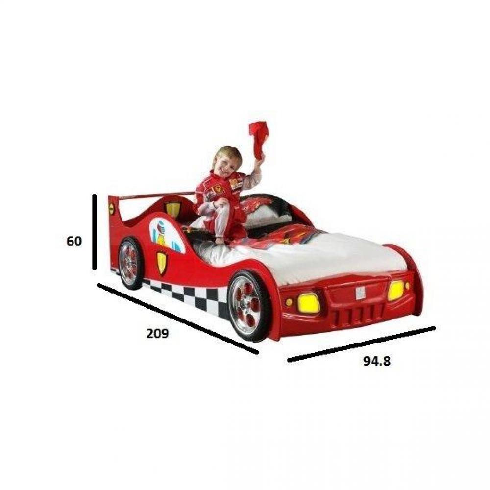 Lits Chambre Amp Literie Lit Voiture Monza Design Rouge