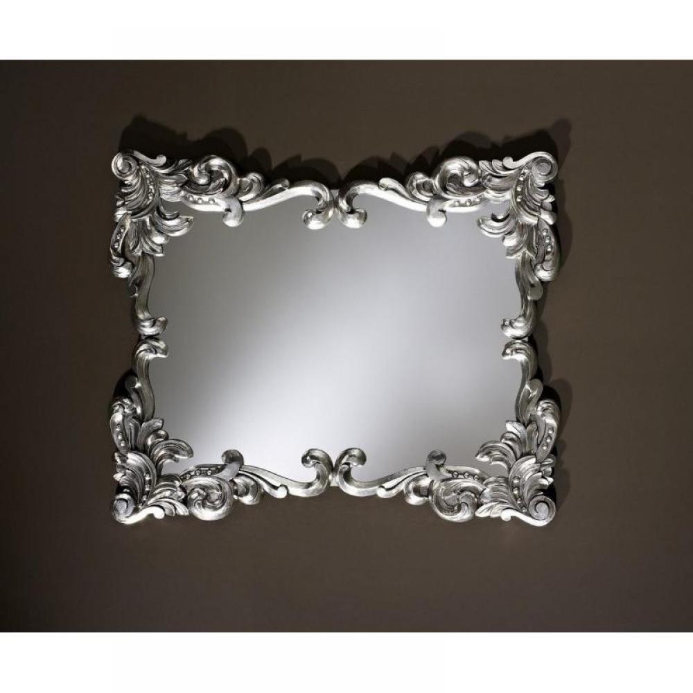 Loliane miroir mural design couleur argent place du mariage - Miroir argente design ...