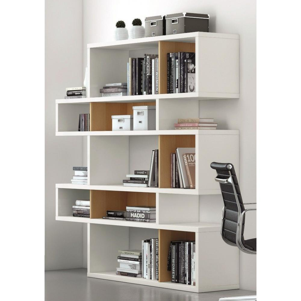 Bibliotheque blanc laque for Meuble bibliotheque design