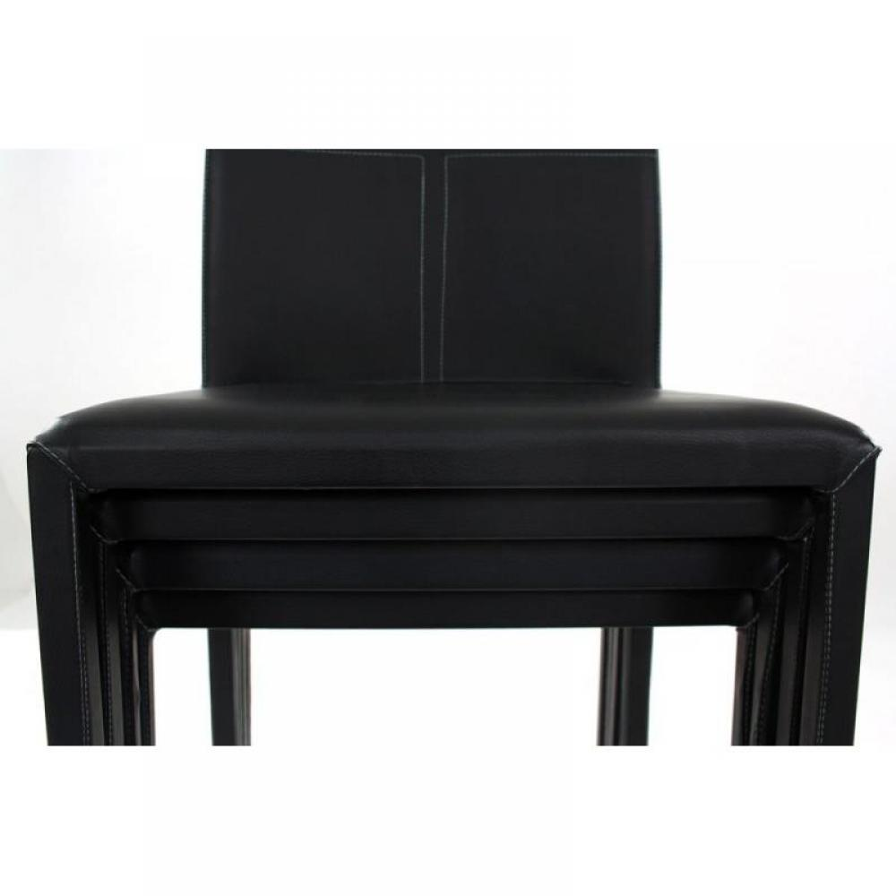 chaise noir design en polypropyl ne et polycarbonate. Black Bedroom Furniture Sets. Home Design Ideas