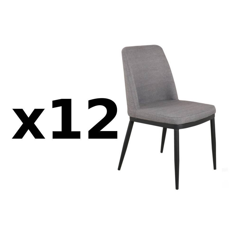 Chaises tables et chaises chaise links design tissu gris - Chaise baroque transparente ...