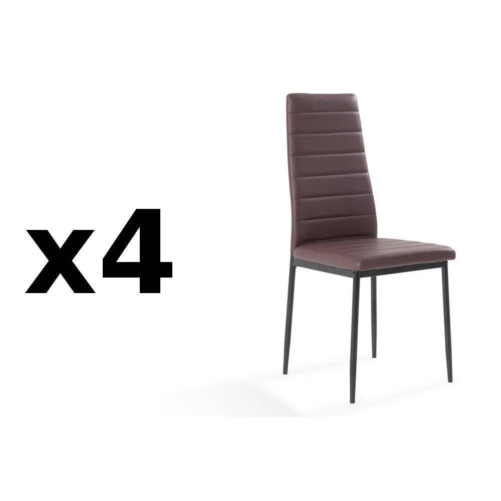 Chaises tables et chaises lot de 4 chaises design nosa - Lot de 4 chaises design ...