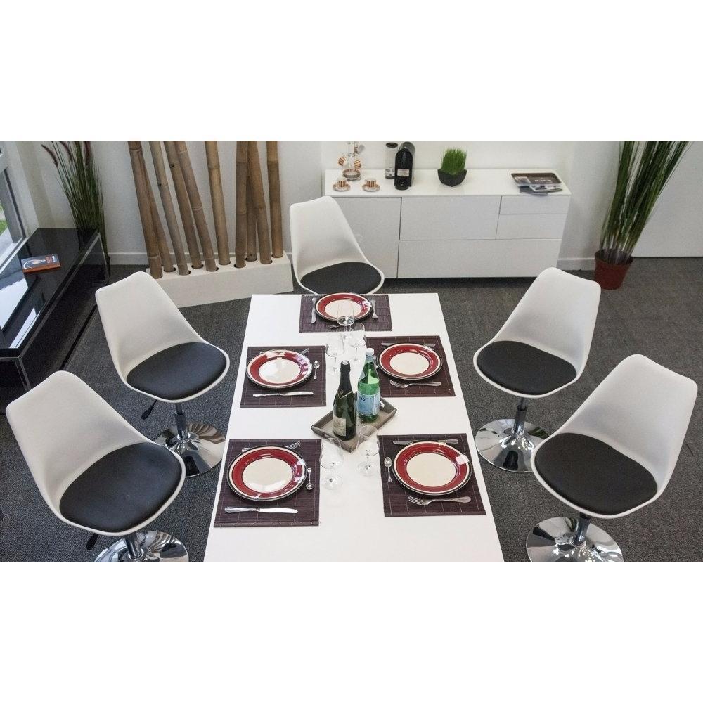 chaises de bureau tables et chaises lot de 4 chaises de bureau reglable paris similicuir. Black Bedroom Furniture Sets. Home Design Ideas