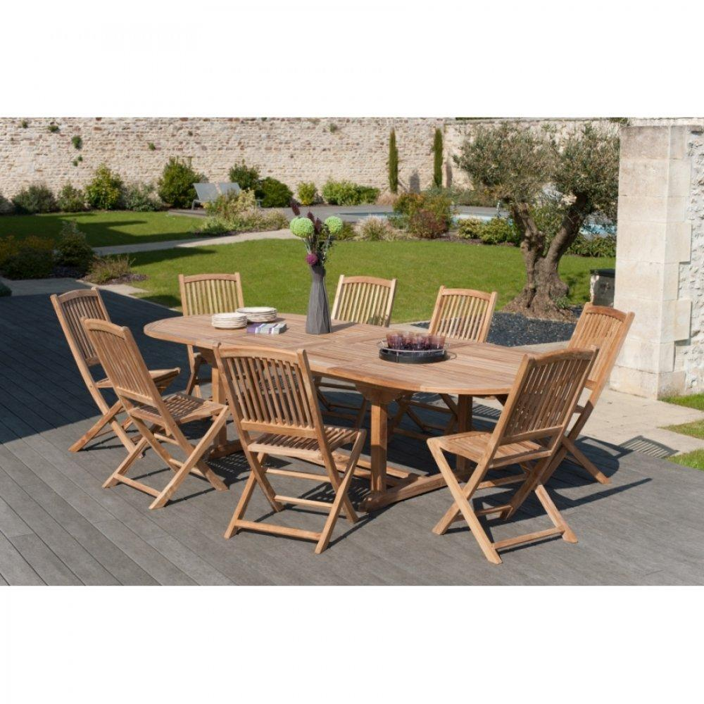 Chaises tables et chaises lot de 4 chaises de jardin lombock en teck insi - Lot de chaise de jardin ...