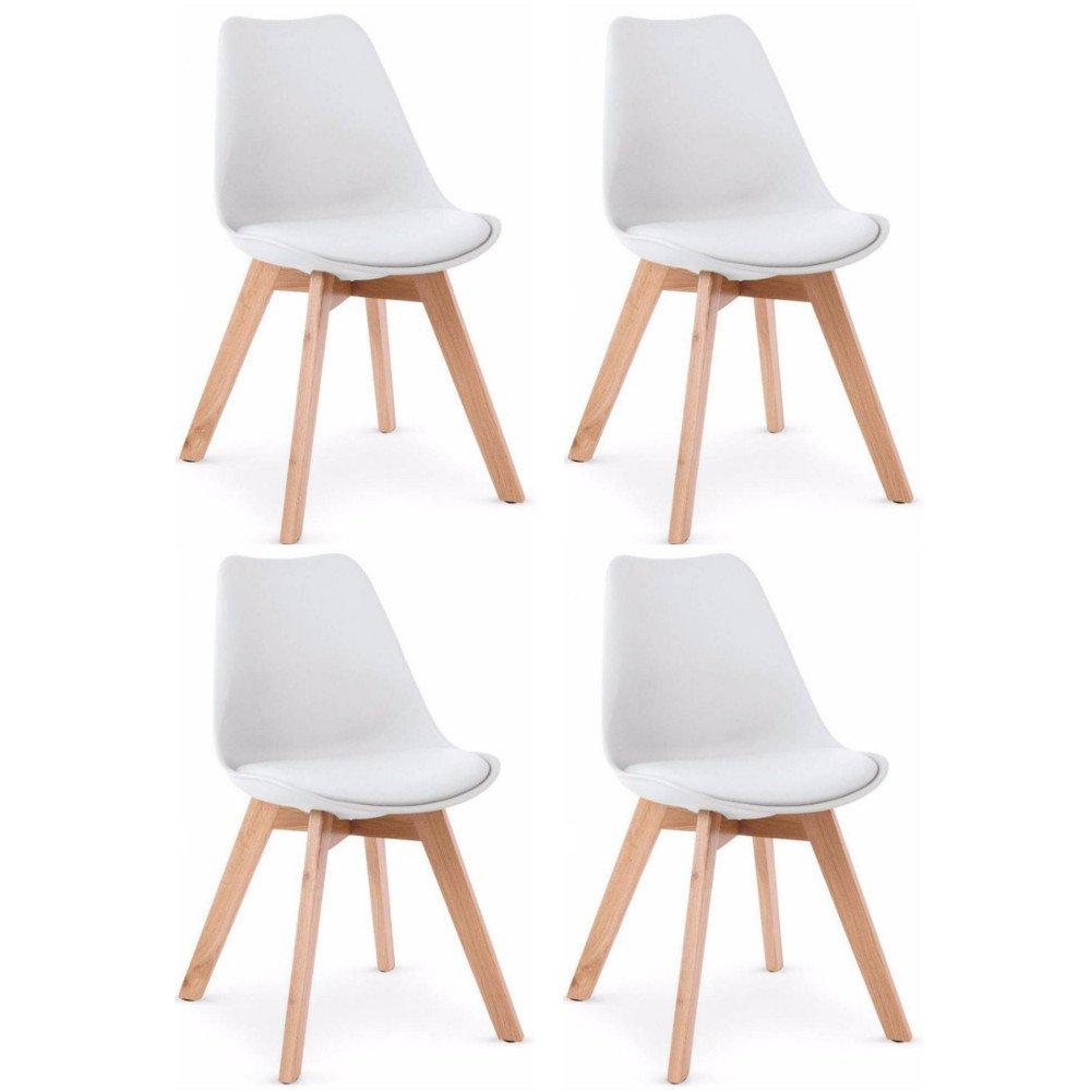 Chaises tables et chaises chaise oslo design scandinave pi tement en h tre inside75 - Sedia scandinava ...