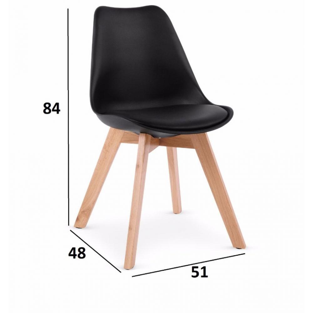 Chaises tables et chaises lot de 4 chaises oslo noire - Lot de 4 chaises design ...