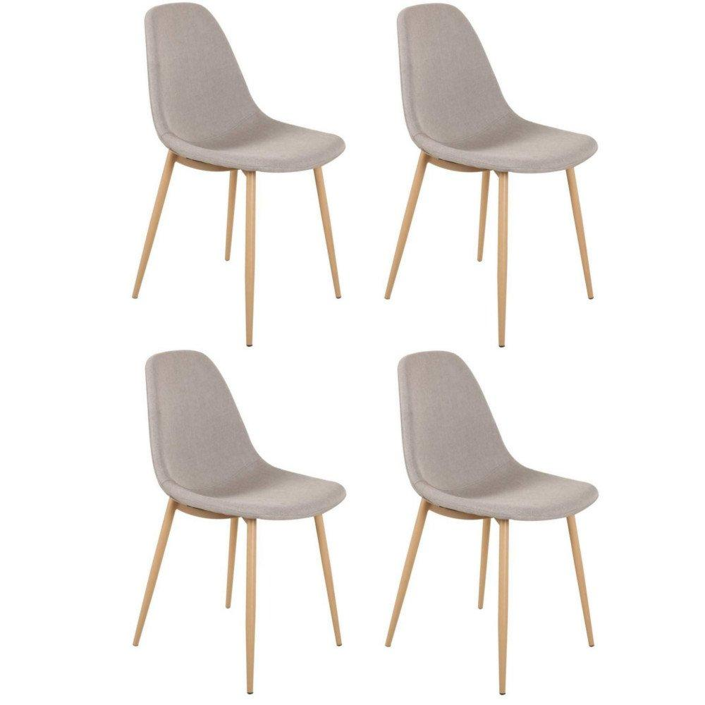 Chaises tables et chaises lot de 4 chaises stockholm for Chaise scandinave grise