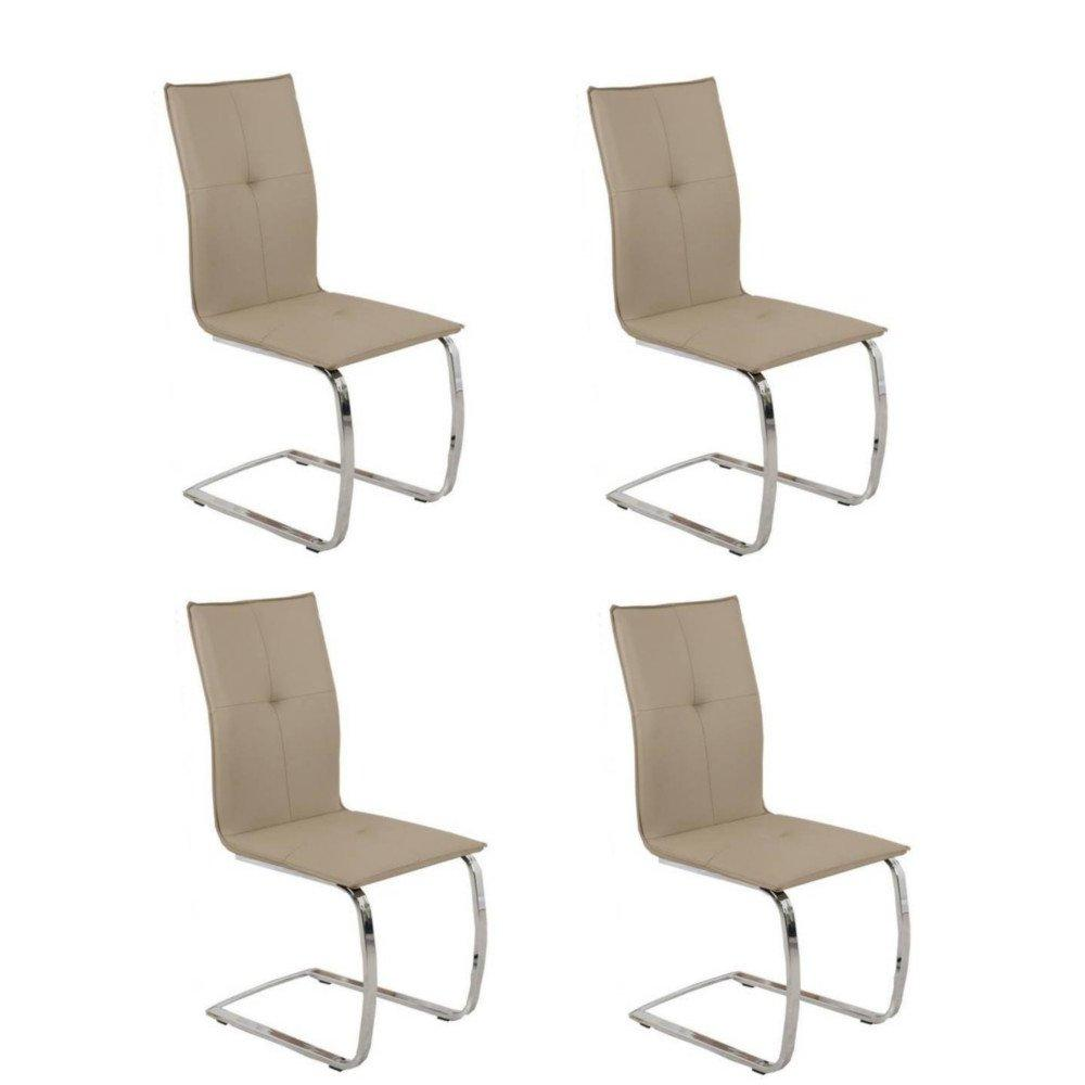 chaises tables et chaises lot de 4 chaises design swing en tissu enduit polyur thane simili. Black Bedroom Furniture Sets. Home Design Ideas