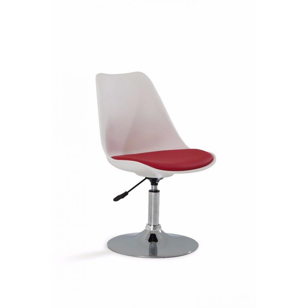 chaises de bureau tables et chaises lot de 6 chaises de bureau reglable paris similicuir rouge. Black Bedroom Furniture Sets. Home Design Ideas