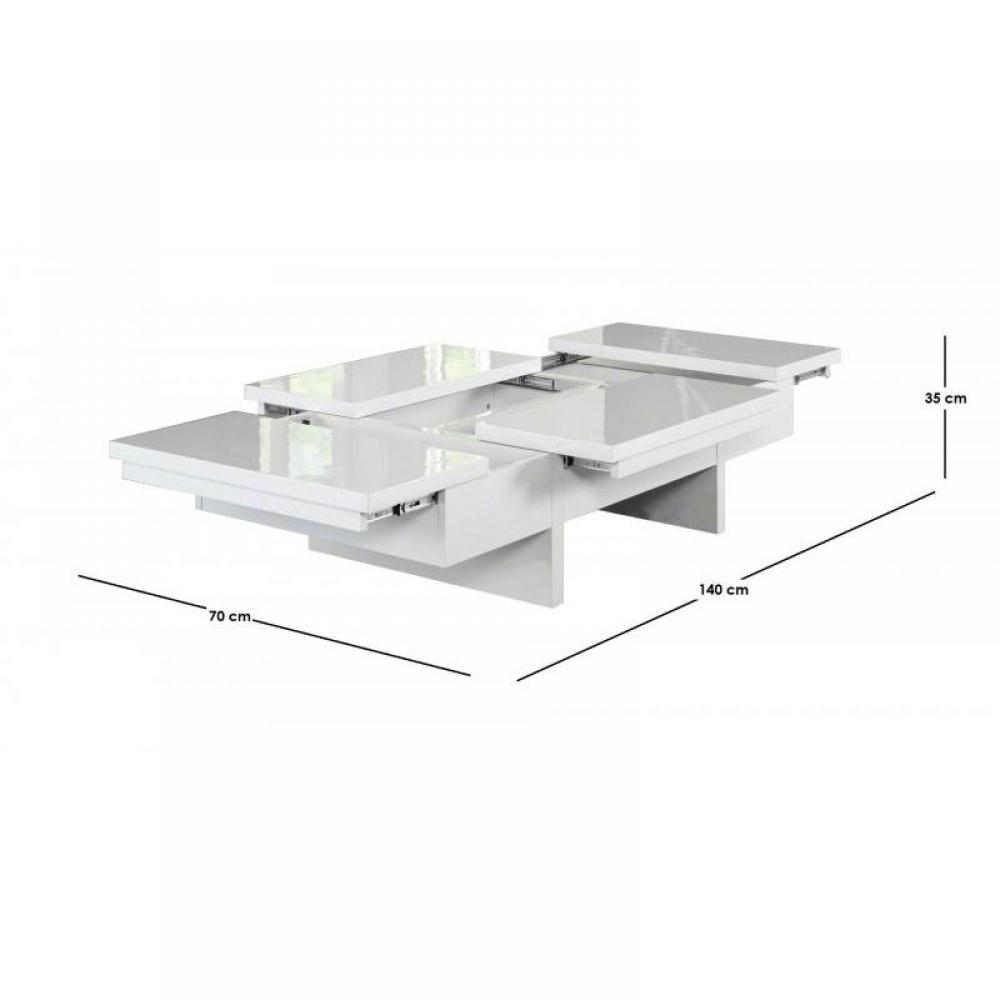 Tables basses tables et chaises lumina table basse - Table blanc laquee ...