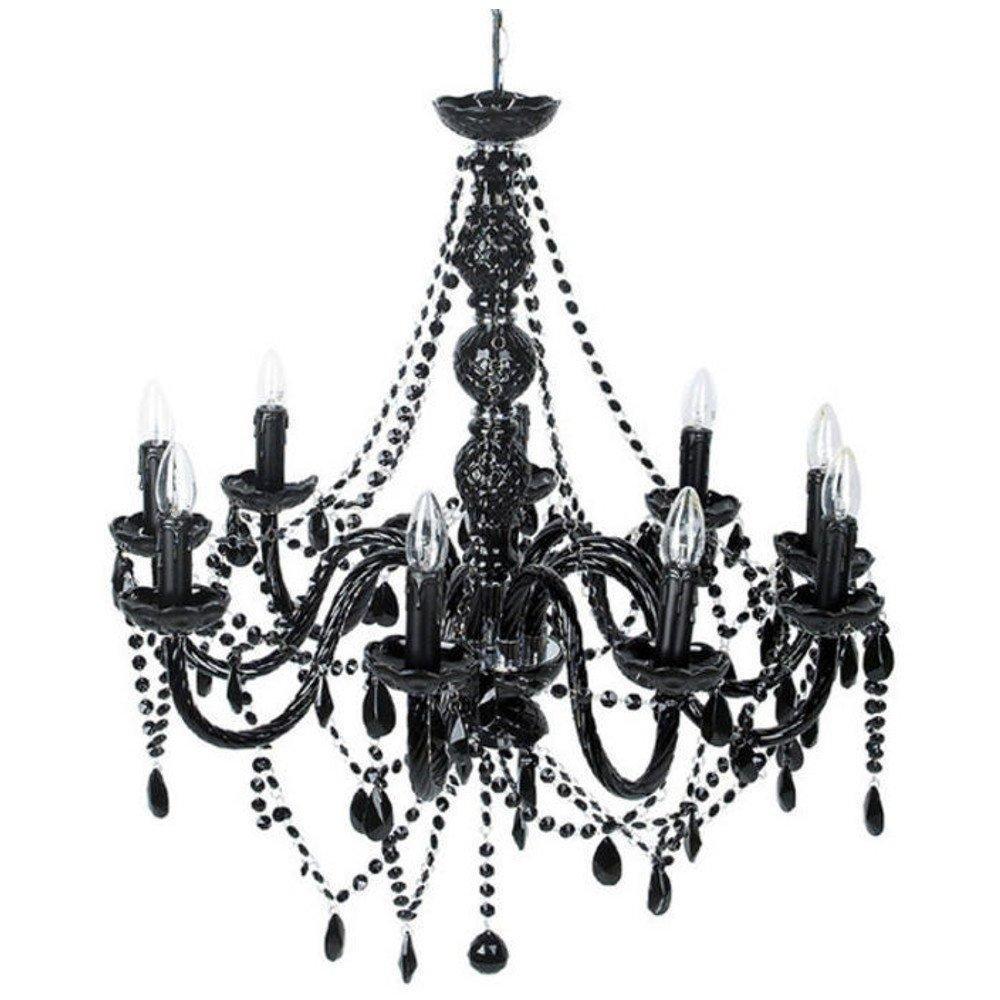 lampes meubles et rangements lustre baroque noir 9 bras. Black Bedroom Furniture Sets. Home Design Ideas