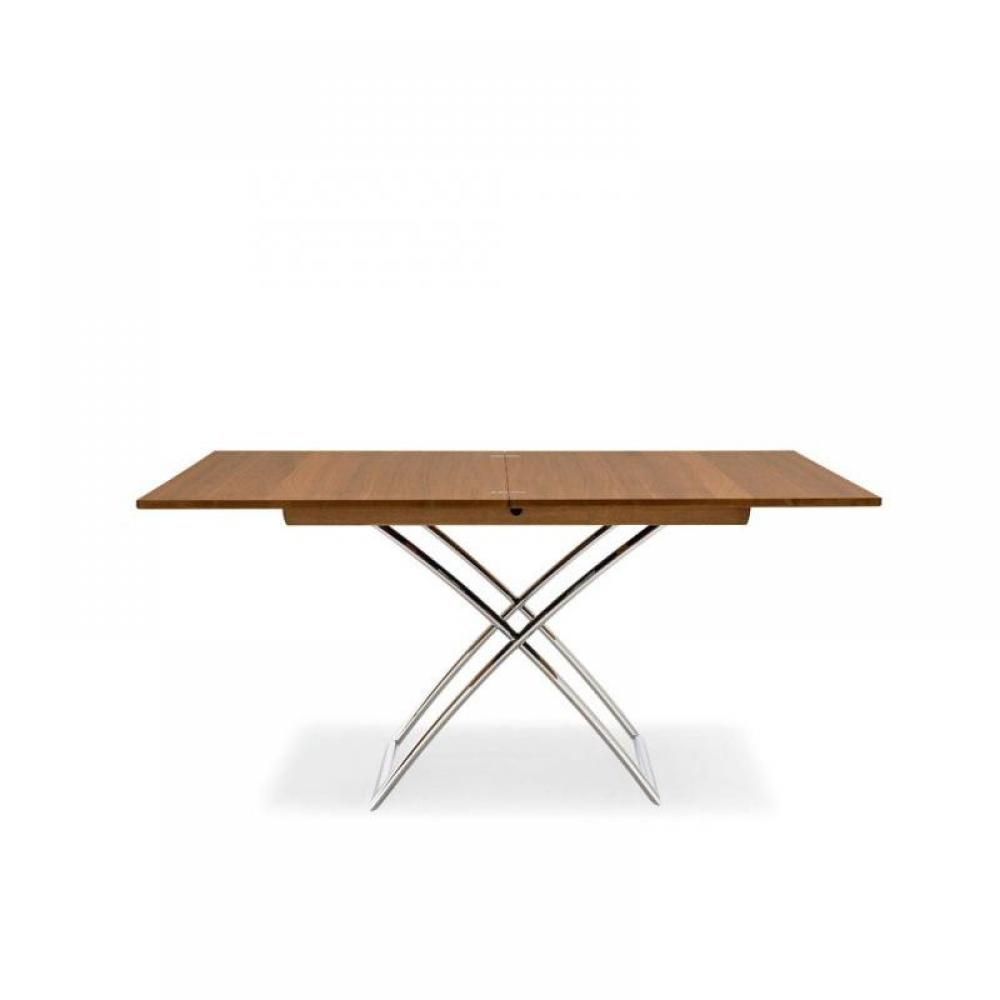 Table relevable extensible en bois for Table extensible bois metal